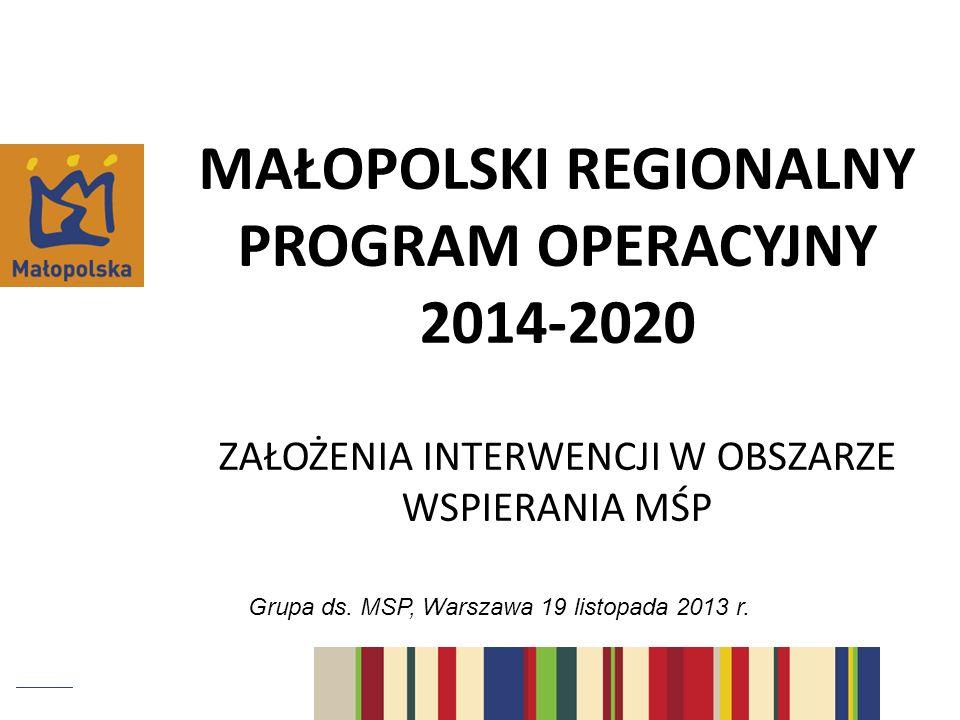 Grupa ds. MSP, Warszawa 19 listopada 2013 r.