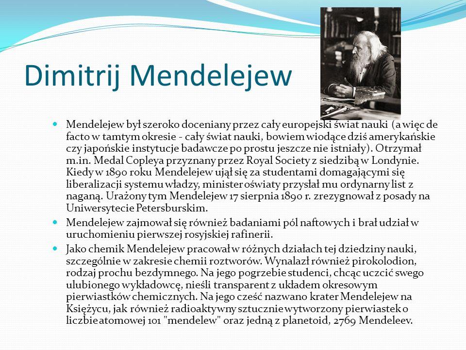 Dimitrij Mendelejew