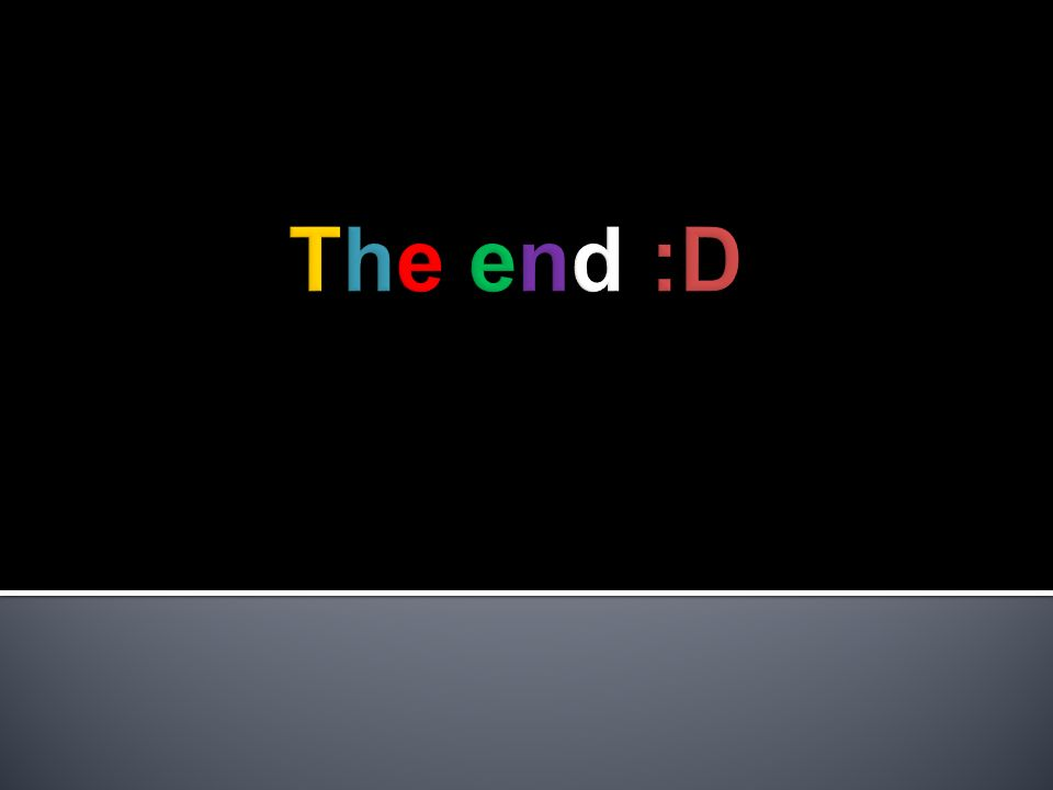 The end :D .