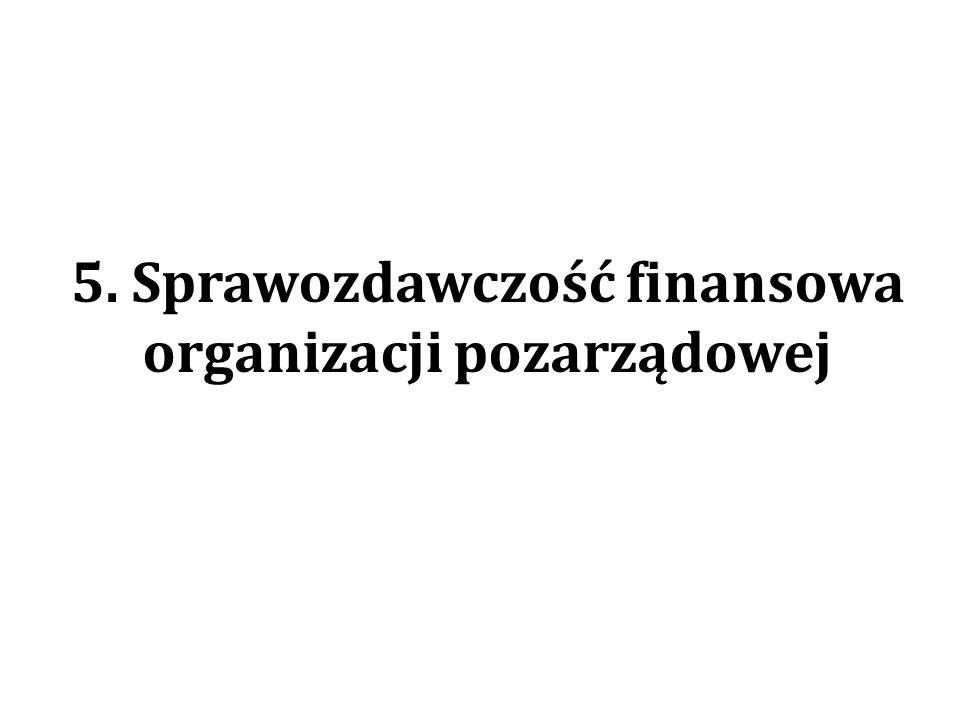 5. Sprawozdawczość finansowa organizacji pozarządowej