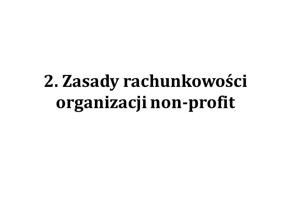2. Zasady rachunkowości organizacji non-profit