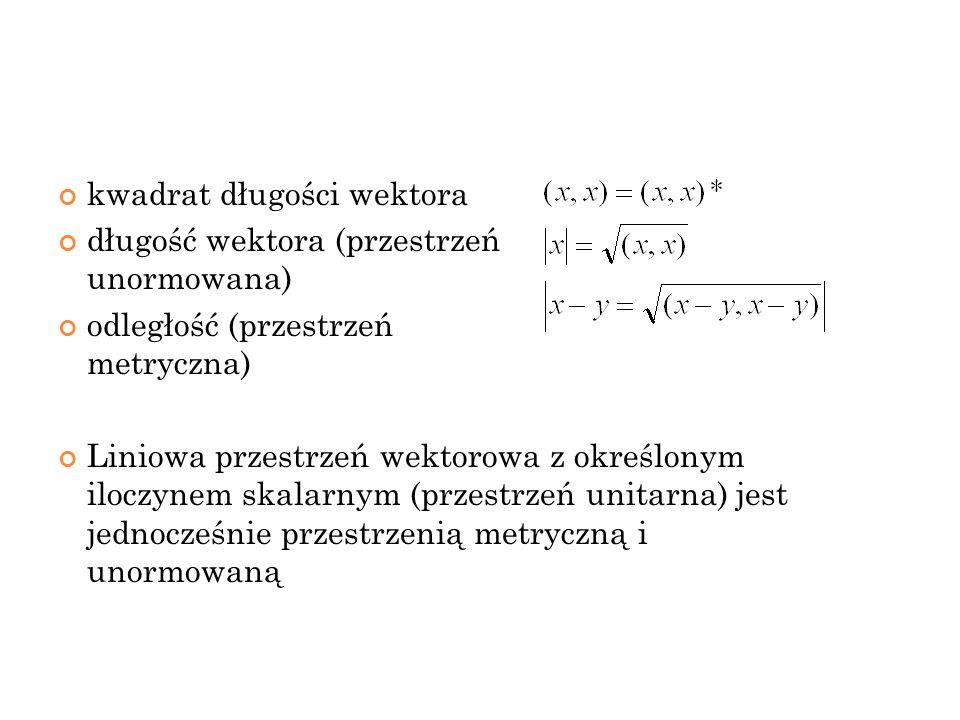kwadrat długości wektora