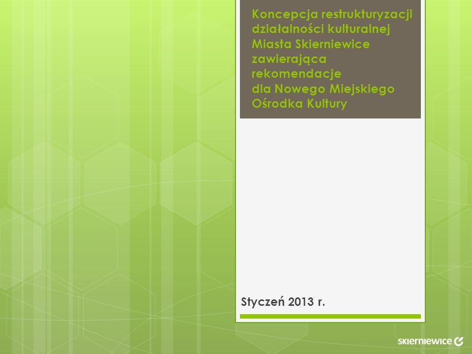 Koncepcja restrukturyzacji działalności kulturalnej Miasta Skierniewice zawierająca rekomendacje dla Nowego Miejskiego Ośrodka Kultury