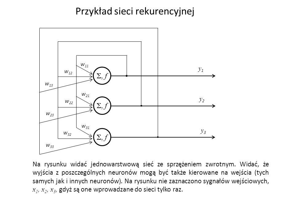Przykład sieci rekurencyjnej