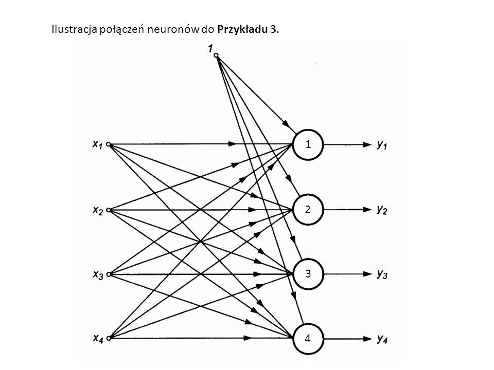 Ilustracja połączeń neuronów do Przykładu 3.