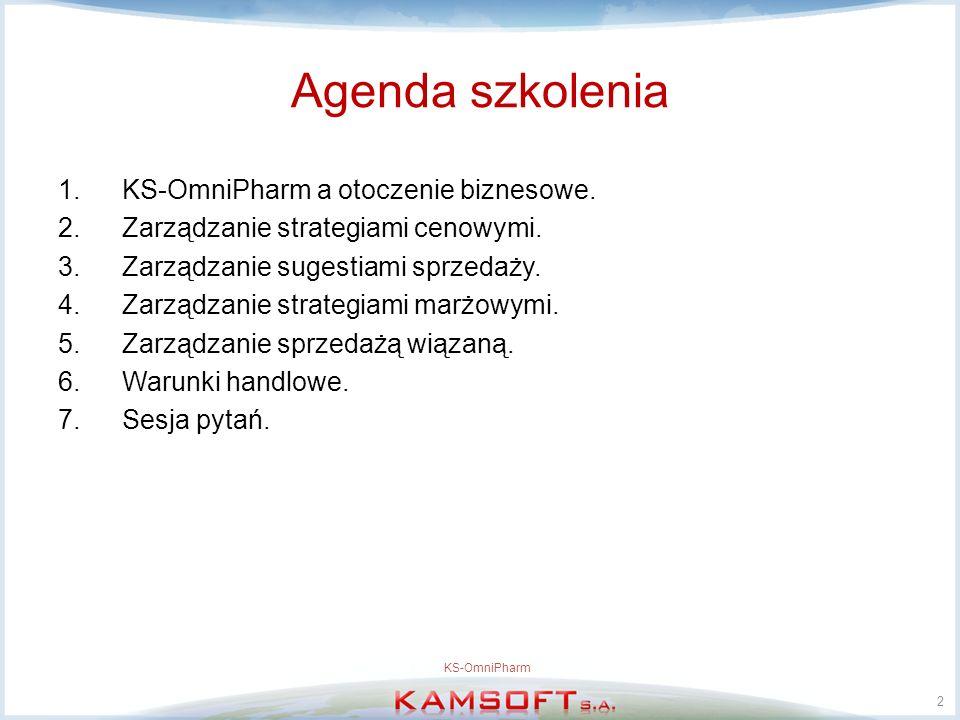Agenda szkolenia KS-OmniPharm a otoczenie biznesowe.