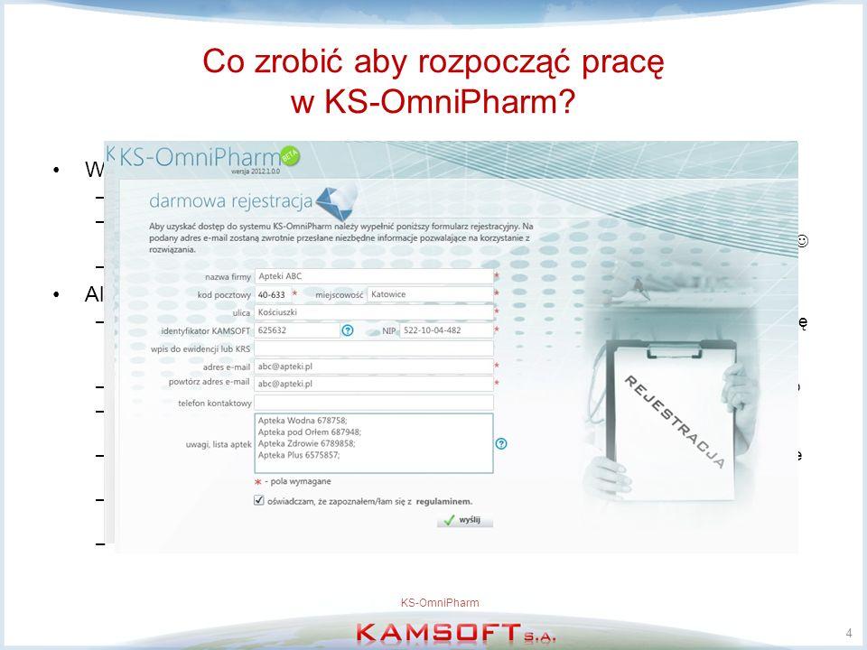 Co zrobić aby rozpocząć pracę w KS-OmniPharm