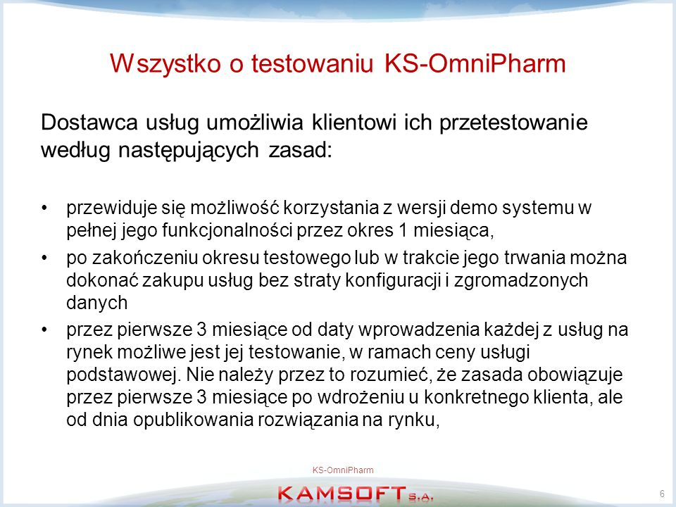 Wszystko o testowaniu KS-OmniPharm