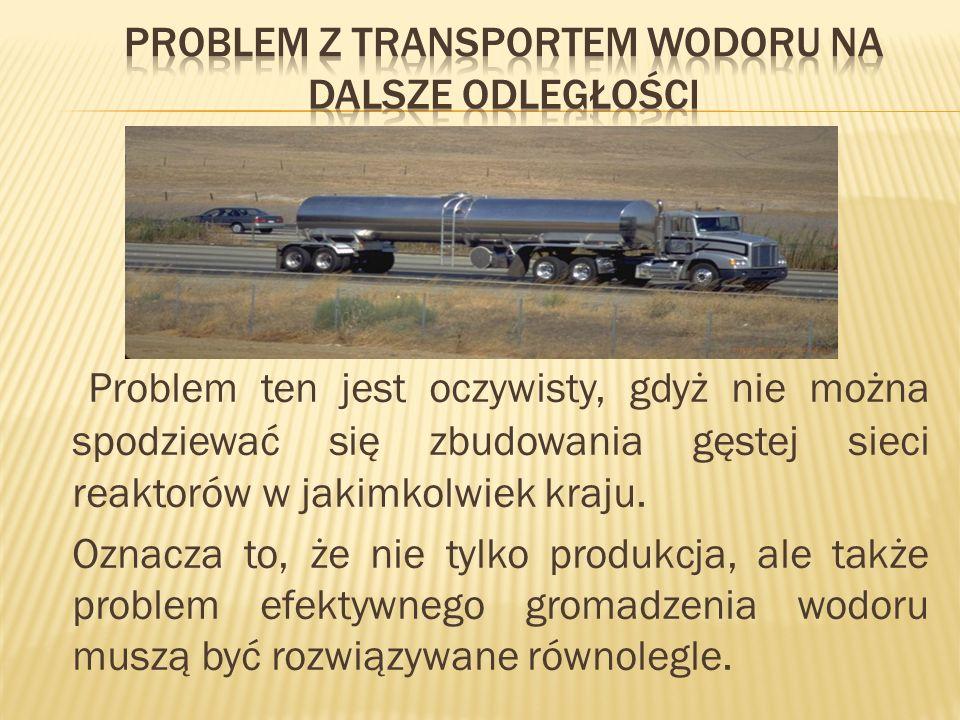 Problem z transportem wodoru na dalsze odległości