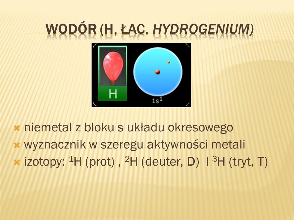 Wodór (H, łac. Hydrogenium)