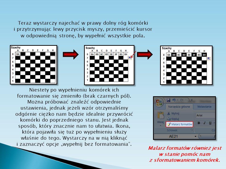 Malarz formatów również jest w stanie pomóc nam