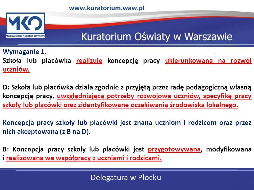 Delegatura w Płocku Wymaganie 1.