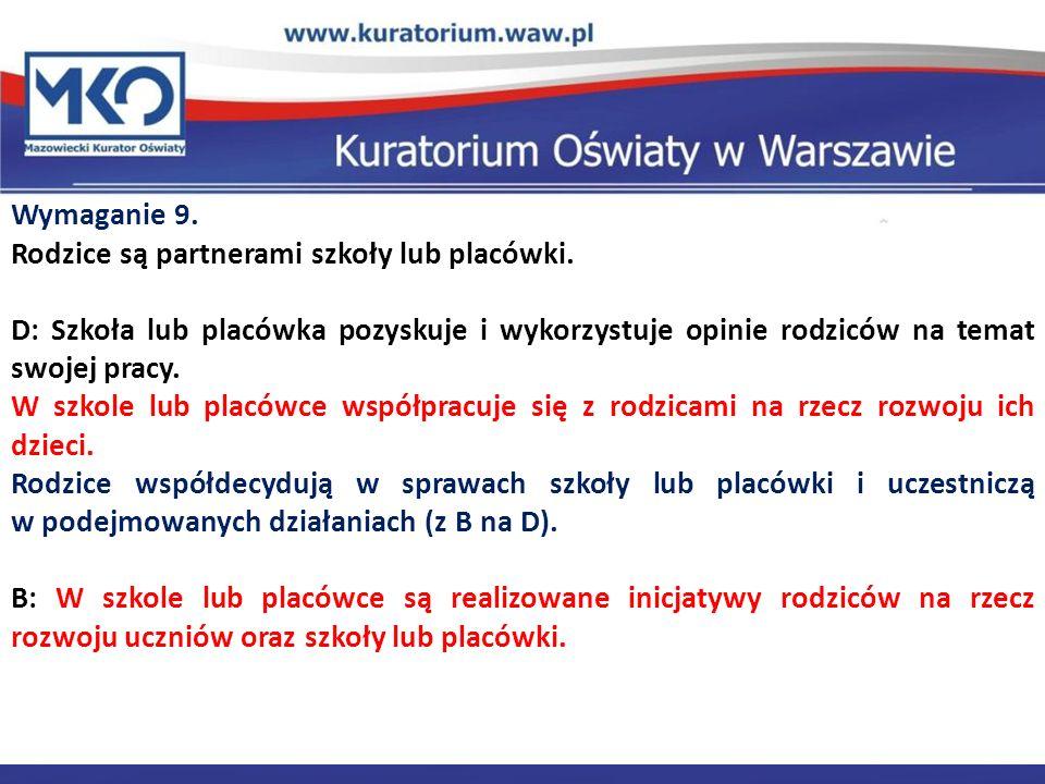 Delegatura w Płocku Wymaganie 9.