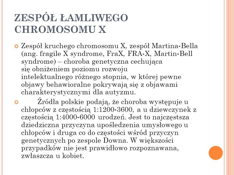 ZESPÓŁ ŁAMLIWEGO CHROMOSOMU X