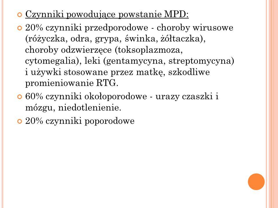 Czynniki powodujące powstanie MPD: