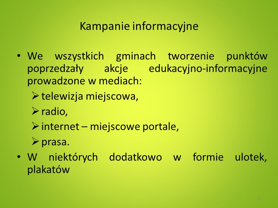 Kampanie informacyjne