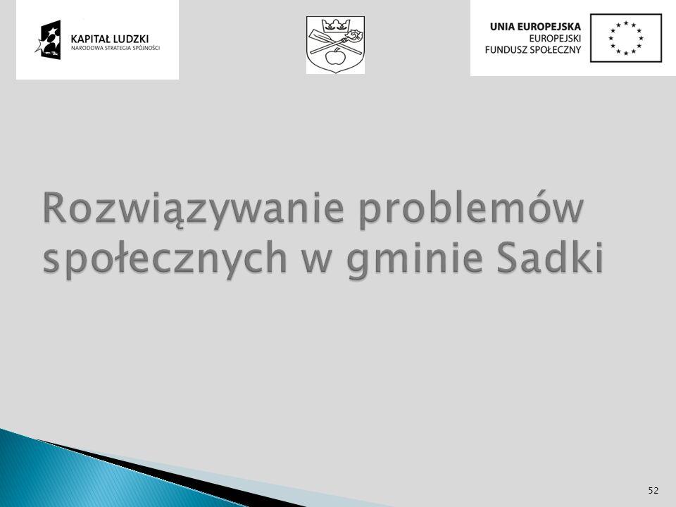 Rozwiązywanie problemów społecznych w gminie Sadki