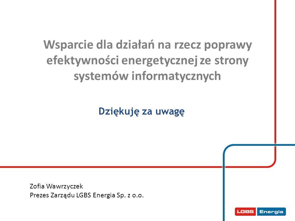 Wsparcie dla działań na rzecz poprawy efektywności energetycznej ze strony systemów informatycznych
