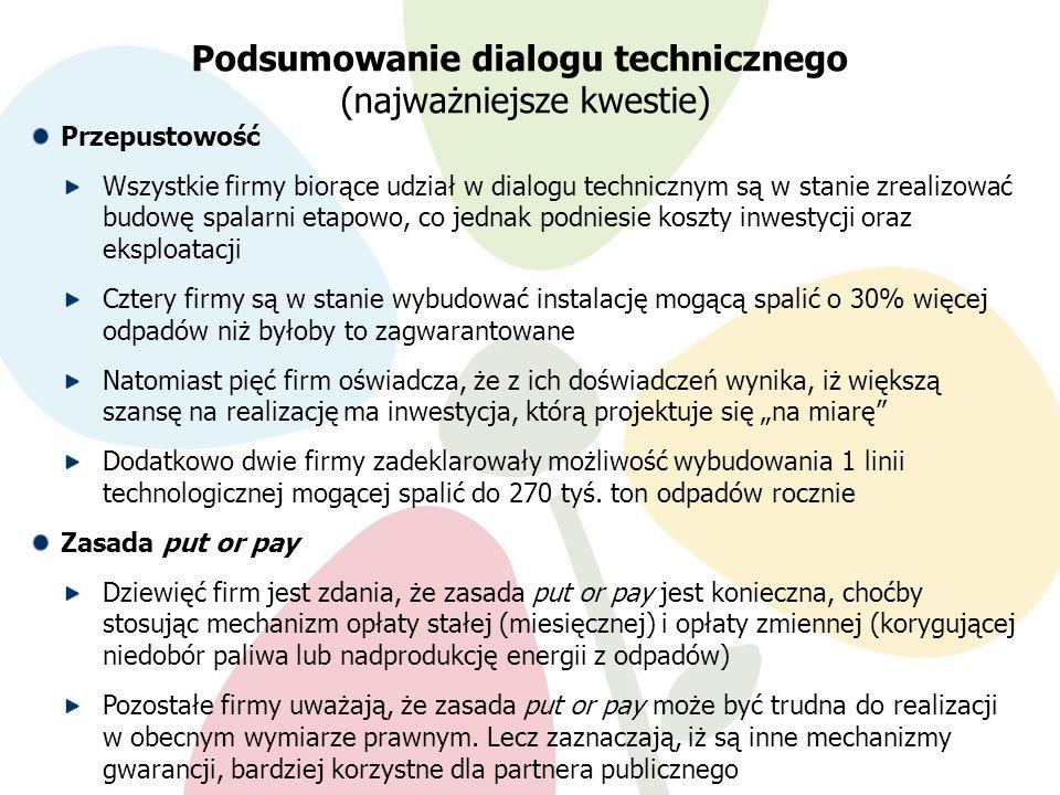 Podsumowanie dialogu technicznego (najważniejsze kwestie)
