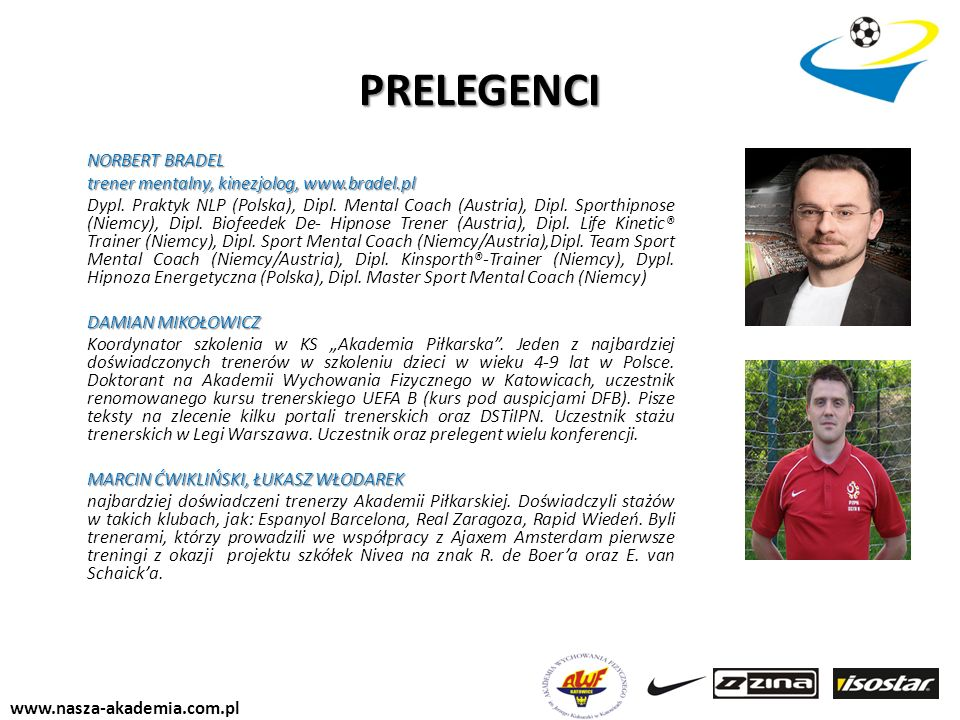 PRELEGENCI trener mentalny, kinezjolog, www.bradel.pl