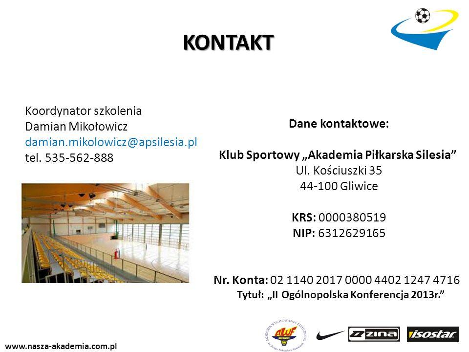 """Klub Sportowy """"Akademia Piłkarska Silesia"""
