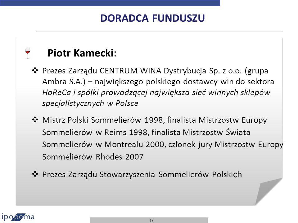 DORADCA FUNDUSZU Piotr Kamecki: