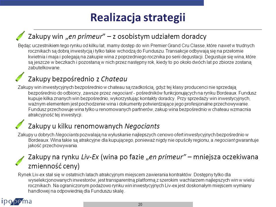 """Realizacja strategii Zakupy win """"en primeur – z osobistym udziałem doradcy."""
