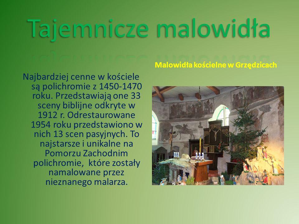 Tajemnicze malowidła Malowidła kościelne w Grzędzicach.