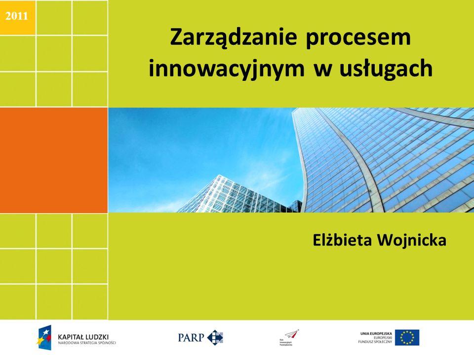 Zarządzanie procesem innowacyjnym w usługach