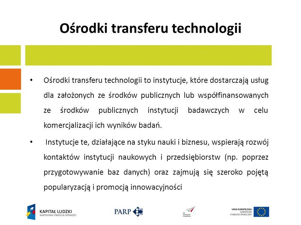 Ośrodki transferu technologii