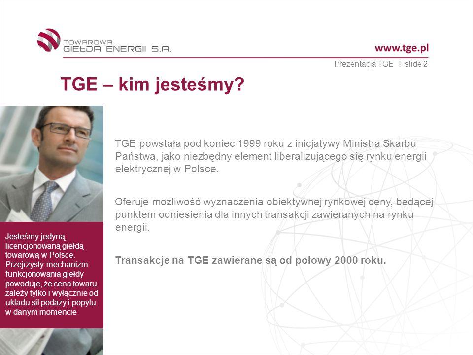 Prezentacja TGE I slide 2