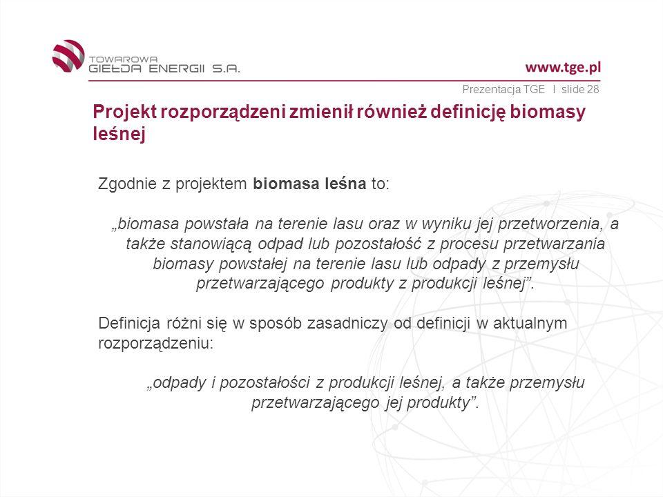 Projekt rozporządzeni zmienił również definicję biomasy leśnej