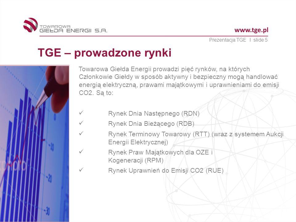 Prezentacja TGE I slide 5