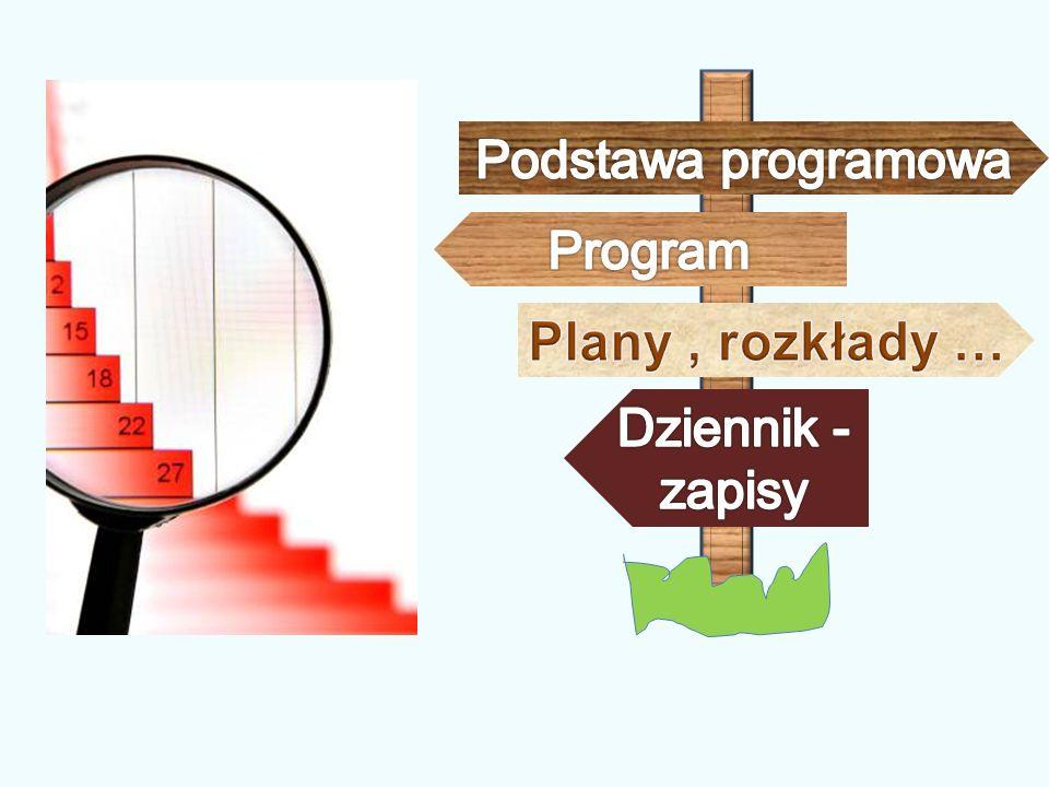 Podstawa programowa Program Plany , rozkłady … Dziennik -zapisy