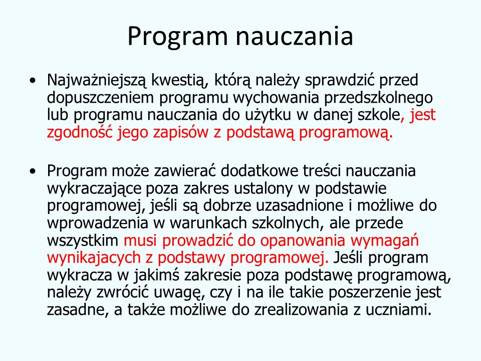 Program nauczania