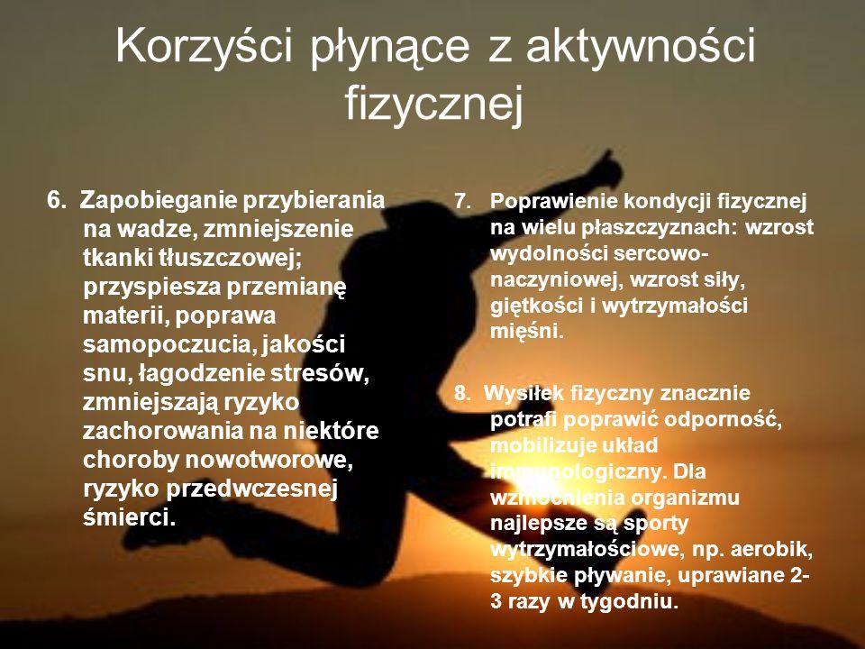 Korzyści płynące z aktywności fizycznej