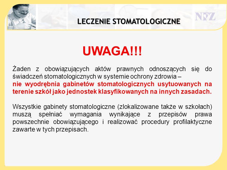 Leczenie stomatologiczne