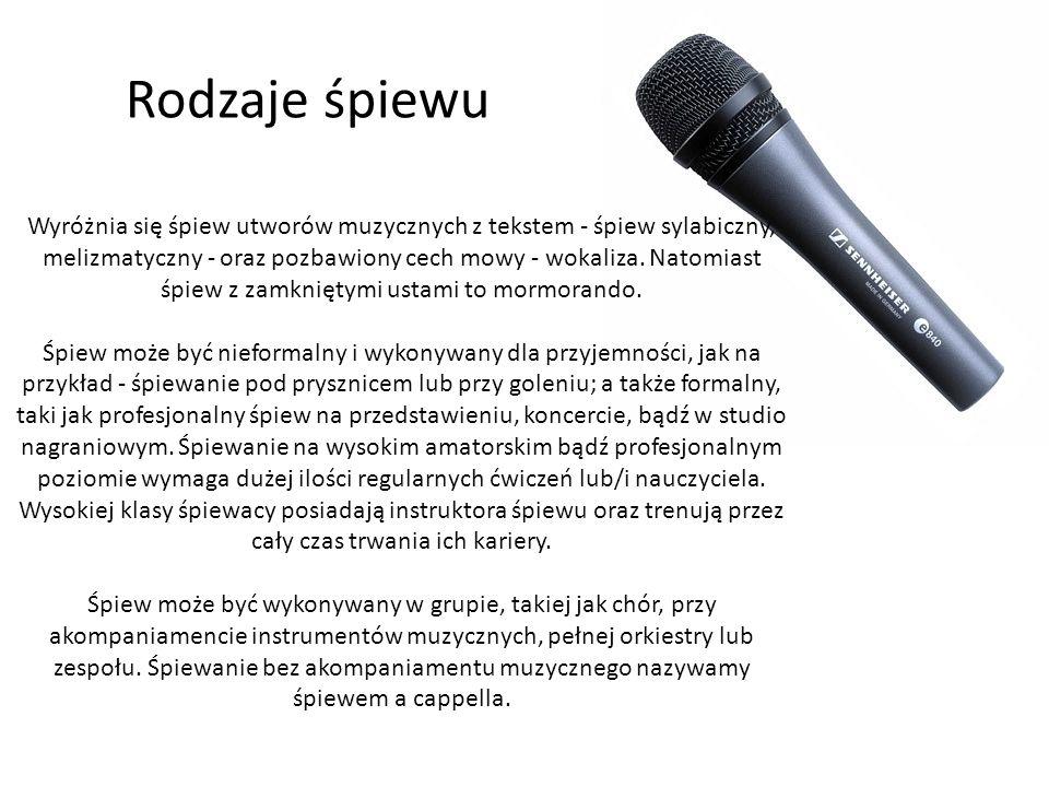 Rodzaje śpiewu