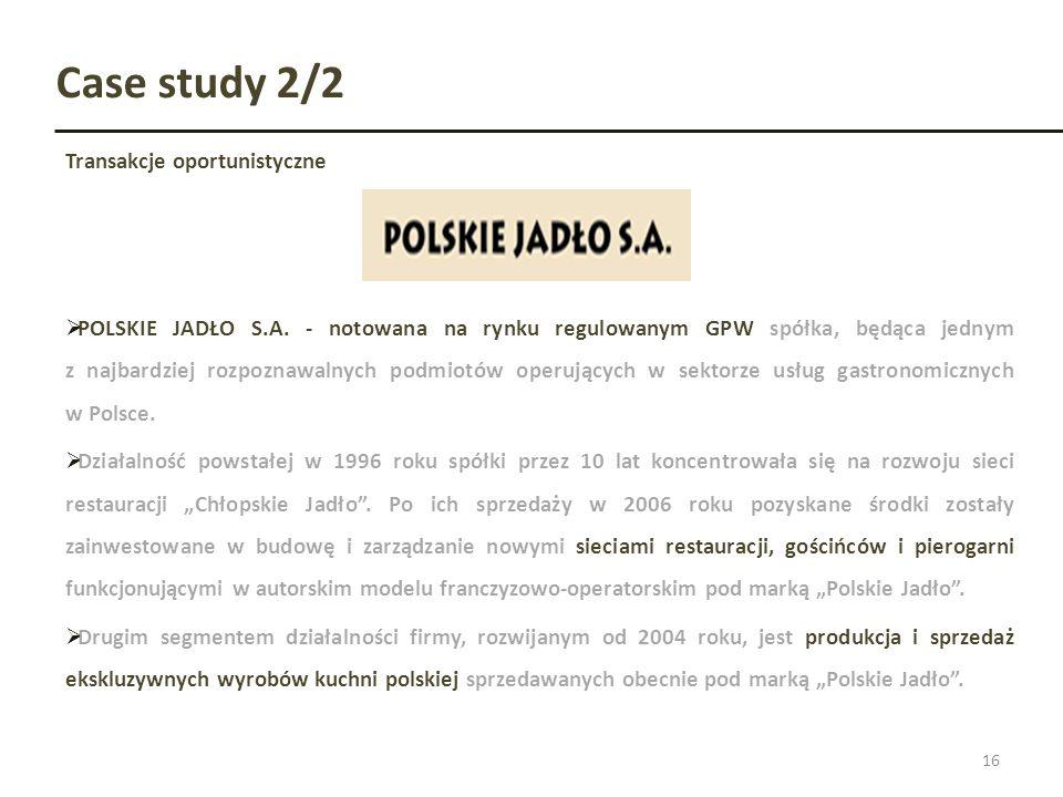 Case study 2/2 Transakcje oportunistyczne