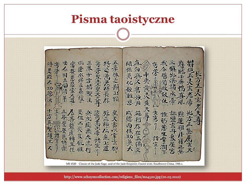 Pisma taoistyczneTutaj możemy zobaczyć przykład taoistycznego tekstu pochodzącego z XIX wieku.