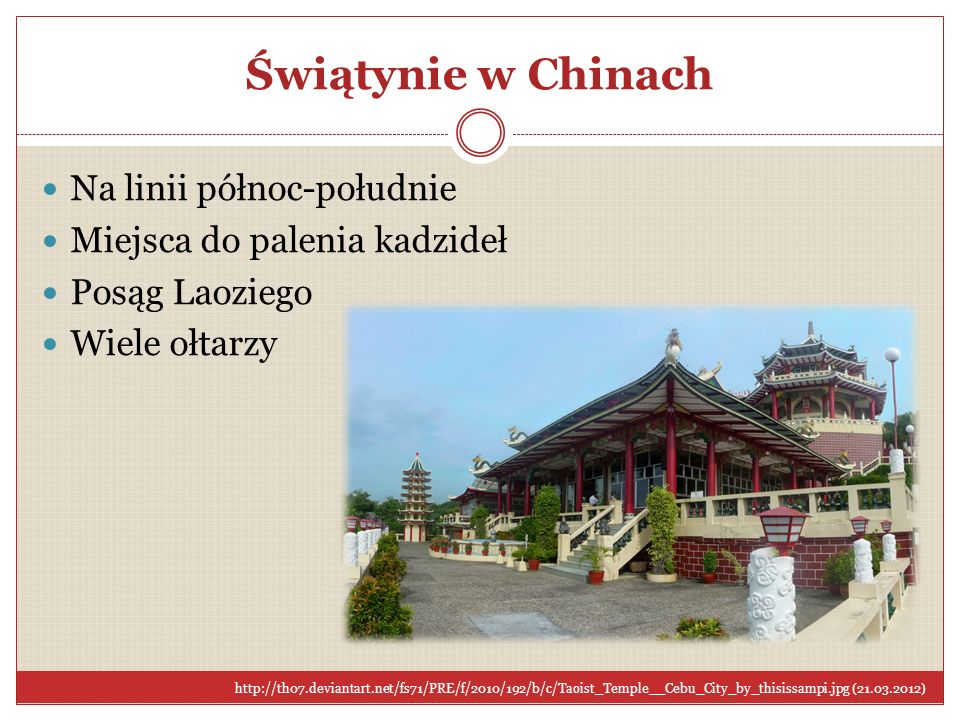 Świątynie w Chinach Na linii północ-południe