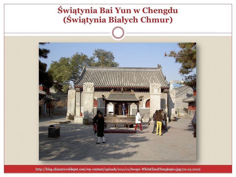Świątynia Bai Yun w Chengdu (Świątynia Białych Chmur)