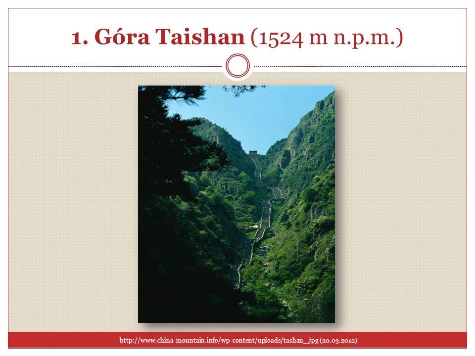 1. Góra Taishan (1524 m n.p.m.)