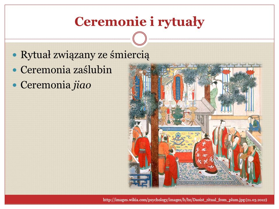 Ceremonie i rytuały Rytuał związany ze śmiercią Ceremonia zaślubin