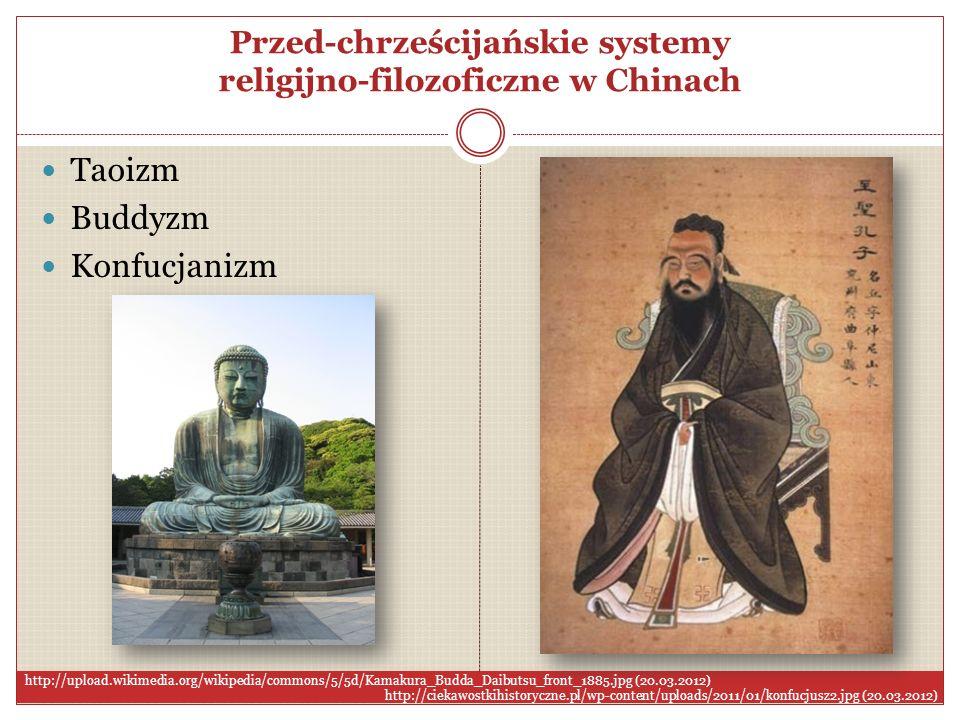 Przed-chrześcijańskie systemy religijno-filozoficzne w Chinach
