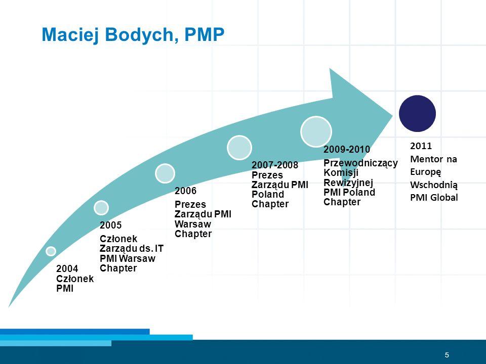 Maciej Bodych, PMP 2011 Mentor na Europę Wschodnią PMI Global