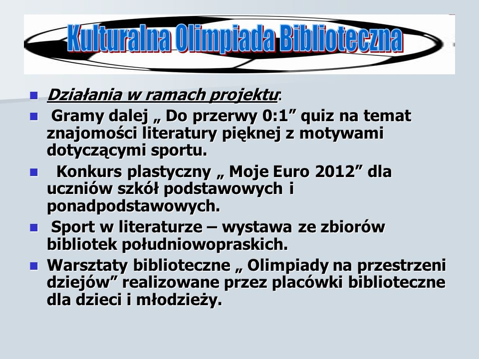 Kulturalna Olimpiada Biblioteczna