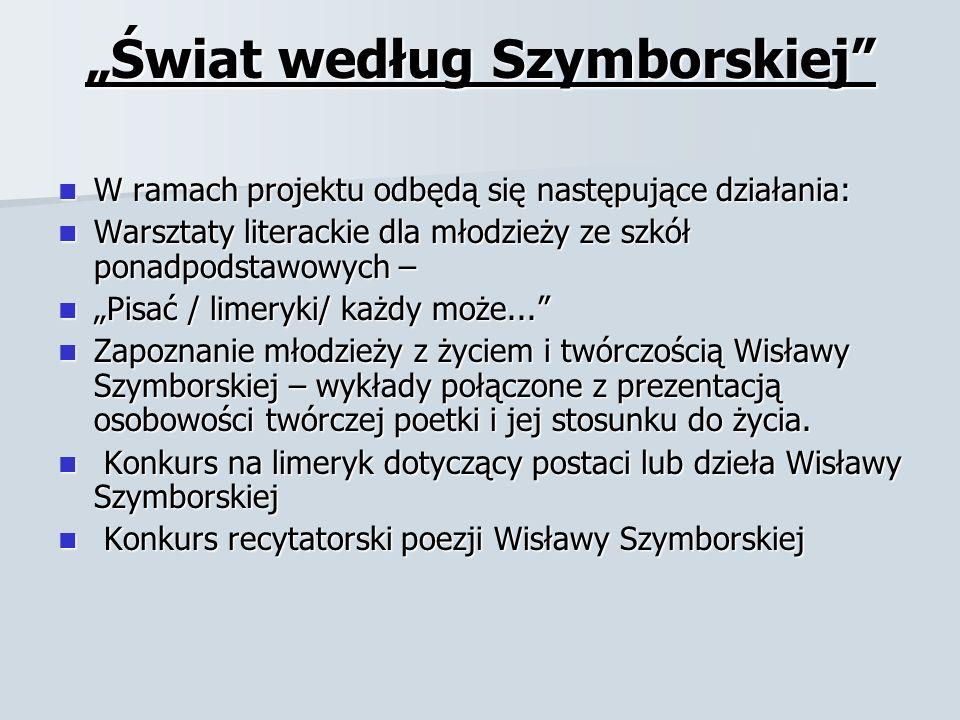 """""""Świat według Szymborskiej"""