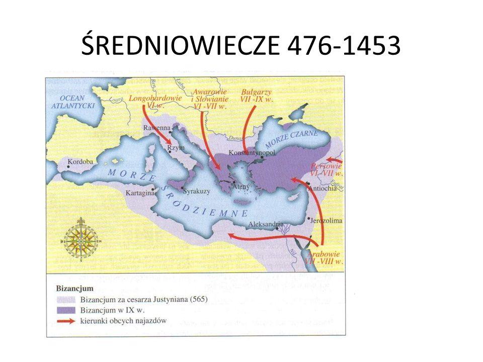 ŚREDNIOWIECZE 476-1453