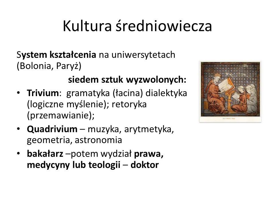 Kultura średniowiecza